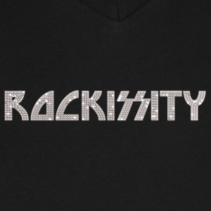 ROCKISSITY: Rock the City in Bling - Men's V-Neck T-Shirt by Canvas