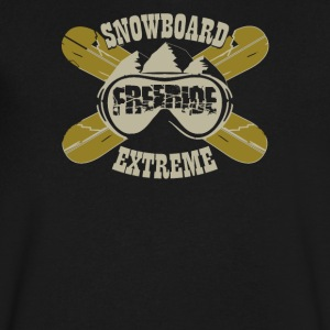 Snowboard freeride extreme - Men's V-Neck T-Shirt by Canvas