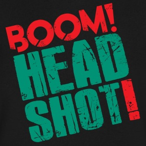 Boom Headshot! Red/Blue - Men's V-Neck T-Shirt by Canvas