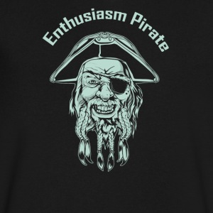 Enthusiasm Pirate - Men's V-Neck T-Shirt by Canvas