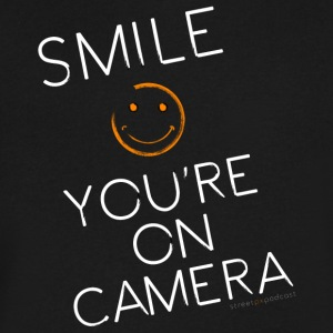 Smiley Cam Alert - Men's V-Neck T-Shirt by Canvas