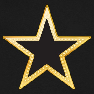 Gold and Black Star - Men's V-Neck T-Shirt by Canvas