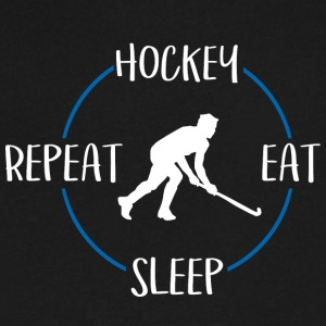 Hockey, Eat, Sleep, Repeat - Men's V-Neck T-Shirt by Canvas