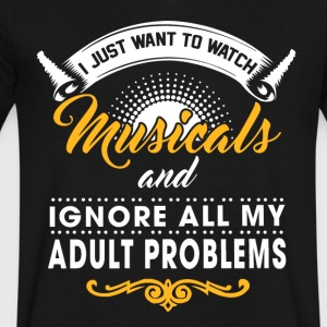 Watch Musicals. - Men's V-Neck T-Shirt by Canvas