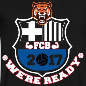 FC Barcelona Football Shirts 2017 - Men's V-Neck T-Shirt by Canvas