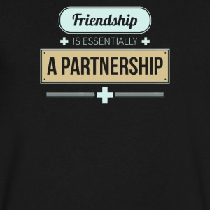 Friendship is essentially a partnership - Men's V-Neck T-Shirt by Canvas