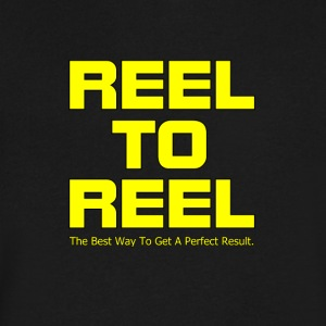 Reel To Reel yellow color - Men's V-Neck T-Shirt by Canvas