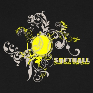 Softball South Helen High School - Men's V-Neck T-Shirt by Canvas