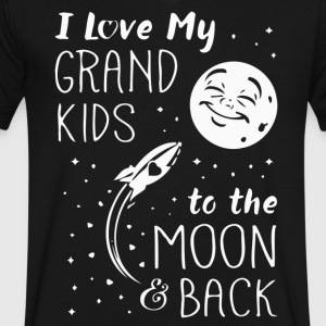 I Love My GrandKids to the Moon and Back - Men's V-Neck T-Shirt by Canvas
