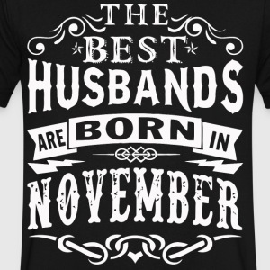 The best Husbands are born in November - Men's V-Neck T-Shirt by Canvas