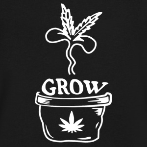 Grow Marijuana - Men's V-Neck T-Shirt by Canvas