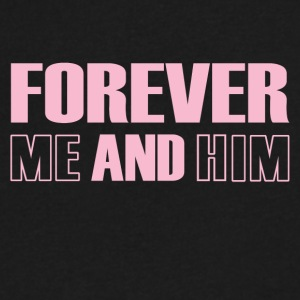 Forever Me And Him - Men's V-Neck T-Shirt by Canvas