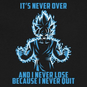 super saiyan goku - it's never over - Men's V-Neck T-Shirt by Canvas