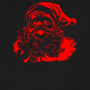 Santa - Men's V-Neck T-Shirt by Canvas
