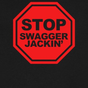 Stop Swagger Jackin - Men's V-Neck T-Shirt by Canvas