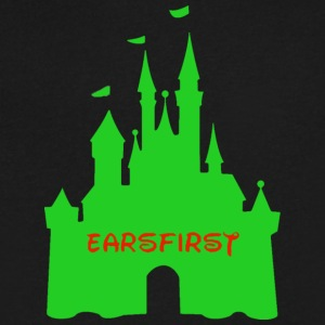 Earsfirst green castle - Men's V-Neck T-Shirt by Canvas