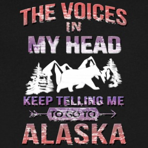 ALASKA IS CALLING AND I MUST GO ALASK - Men's V-Neck T-Shirt by Canvas