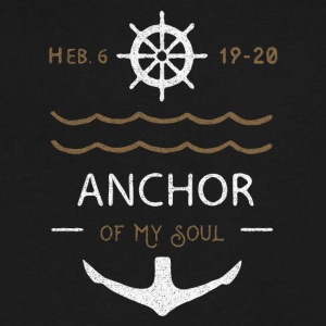 Anchor of the Soul - Men's V-Neck T-Shirt by Canvas