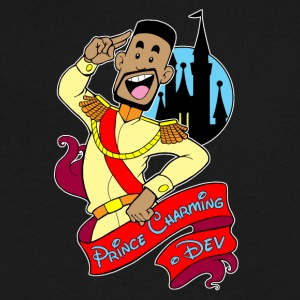 Prince Charming Dev_Logo_Spreadshirt - Men's V-Neck T-Shirt by Canvas