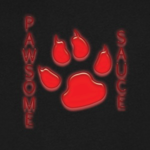 pawsome sauce - Men's V-Neck T-Shirt by Canvas