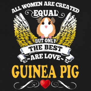 Best Woman Are Love Guinea Pig - Men's V-Neck T-Shirt by Canvas