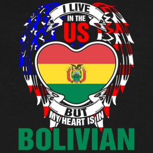 I Live In The Us But My Heart Is In Bolivian - Men's V-Neck T-Shirt by Canvas
