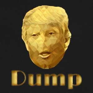 Dump Trump - Men's V-Neck T-Shirt by Canvas