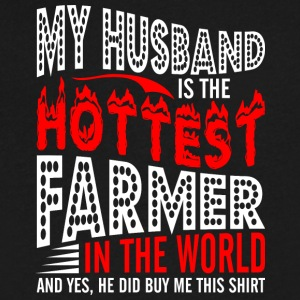 My Husband Is The Hottest Farmer - Men's V-Neck T-Shirt by Canvas