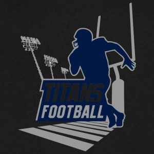 TITANS FOOTBALL - Men's V-Neck T-Shirt by Canvas