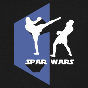 Spar Wars Karate MMA T-shirt - Men's V-Neck T-Shirt by Canvas