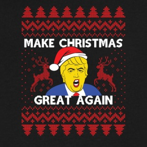 Donald Trump Tshirt Make Christmas Great Again - Men's V-Neck T-Shirt by Canvas