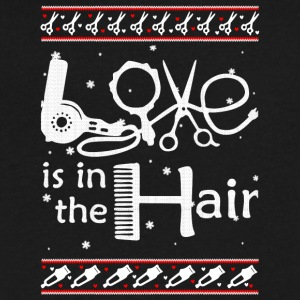 Love Is In The Hair T Shirt - Men's V-Neck T-Shirt by Canvas