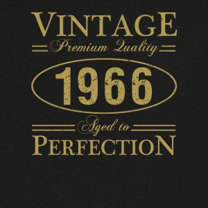Vintage Premium Quality 1966 Aged To Perfection - Men's V-Neck T-Shirt by Canvas