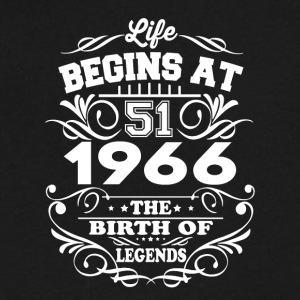 1966 The Birth Of Legends T-Shirt - Men's V-Neck T-Shirt by Canvas