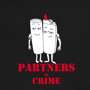 Partners in Crime - Men's V-Neck T-Shirt by Canvas