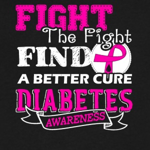 Fight Diabetes Awareness Shirts - Men's V-Neck T-Shirt by Canvas