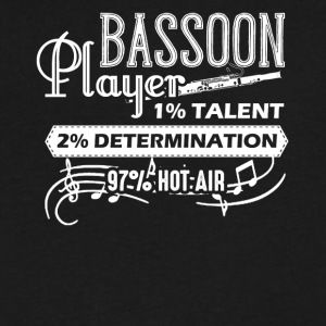 Bassoon Player Shirts - Men's V-Neck T-Shirt by Canvas