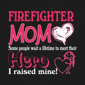 Super Hero Firefighter Mom T Shirt - Men's V-Neck T-Shirt by Canvas