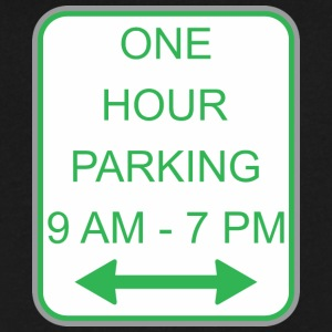 Road_sign_one_hour_parking - Men's V-Neck T-Shirt by Canvas