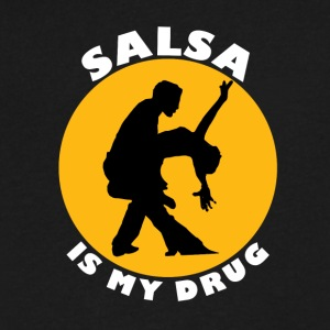 Salsa is my drug - Salsa dance lovers T-shirts - Men's V-Neck T-Shirt by Canvas