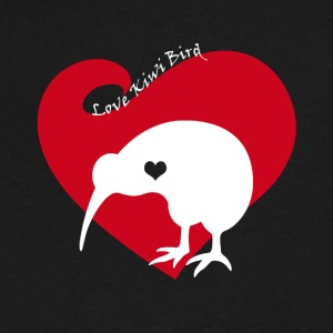 Love Kiwi Bird Tee Shirt - Men's V-Neck T-Shirt by Canvas