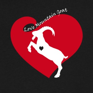 Love Mountain Goat Shirt - Men's V-Neck T-Shirt by Canvas