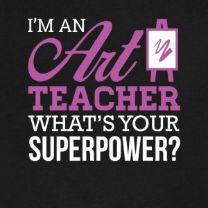 Art teacher power - Men's V-Neck T-Shirt by Canvas