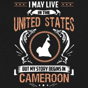 My Story Begins in Cameroon T Shirt - Men's V-Neck T-Shirt by Canvas