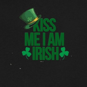 Kiss me i am irish saint patrick tshirt - Men's V-Neck T-Shirt by Canvas