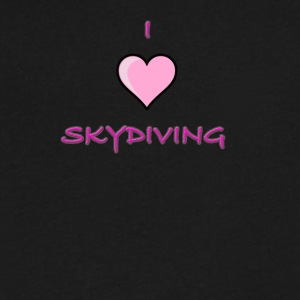 I Love Skydiving/BookSkydive/Perfect Gift - Men's V-Neck T-Shirt by Canvas
