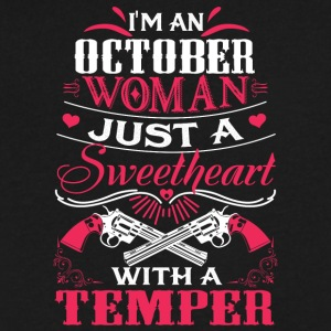 I'm a october woman Just a sweetheart with a tempe - Men's V-Neck T-Shirt by Canvas