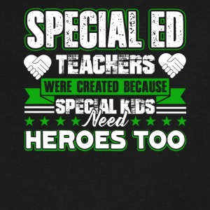 Special Ed Teachers Shirt - Men's V-Neck T-Shirt by Canvas