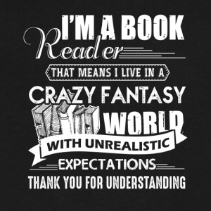 Book Reader Expectations Shirt - Men's V-Neck T-Shirt by Canvas