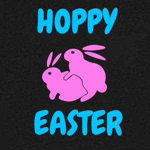 Hoppy Easter shirt Rabbit Bunny Happy Easter - Men's V-Neck T-Shirt by Canvas